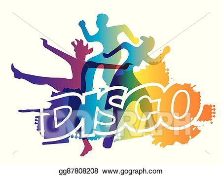 Disco clipart aerobic dance. Eps vector party stock
