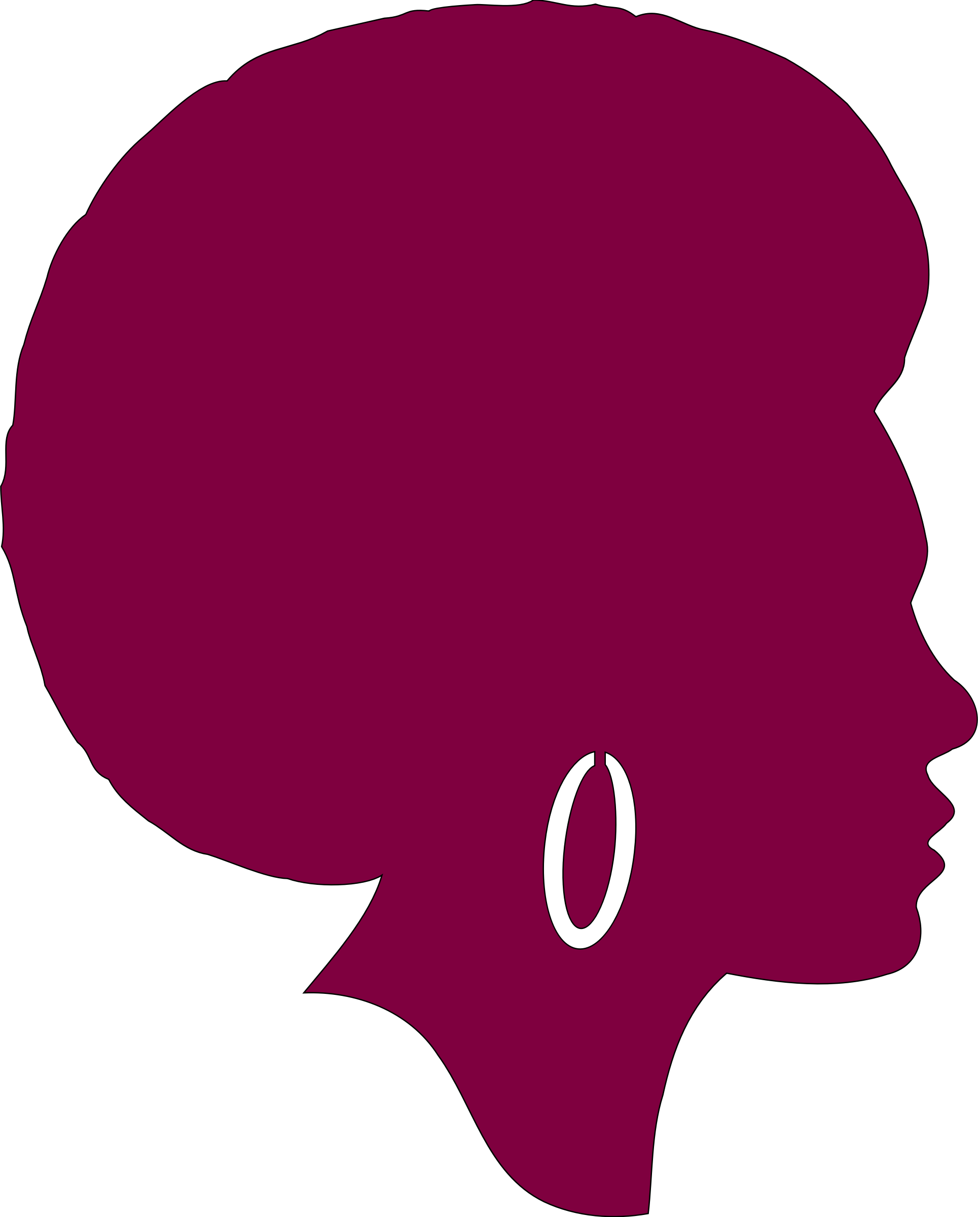 Female clipart afro. Silhouette african american at