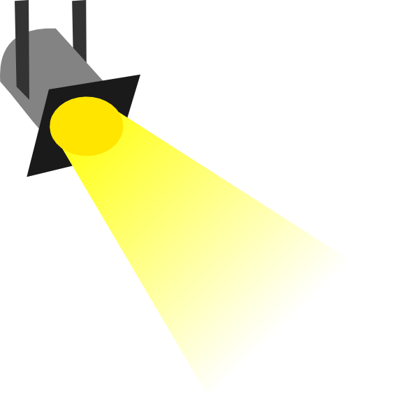 Disco light no outline. Lights clipart yellow