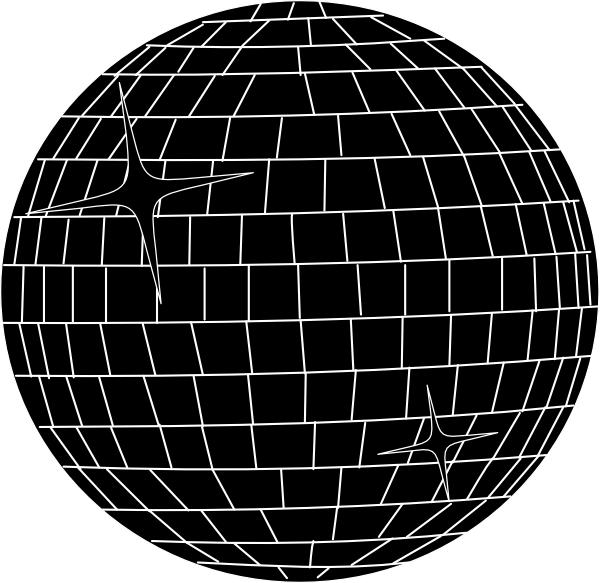 Large white clip art. Disco clipart disco ball