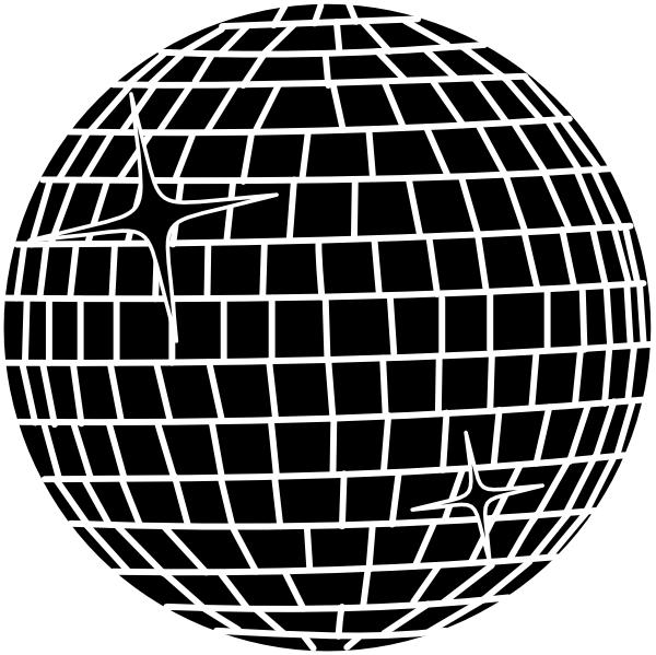 White ball clip art. Disco clipart disco lights