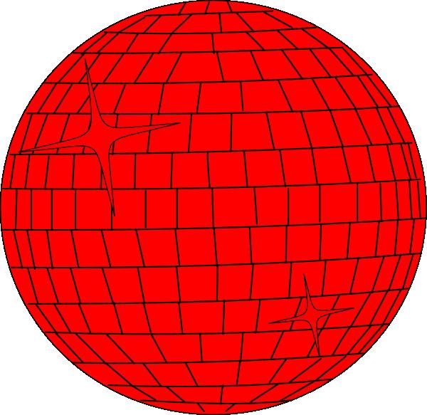 Disco clipart disco lights. Red ball clip art