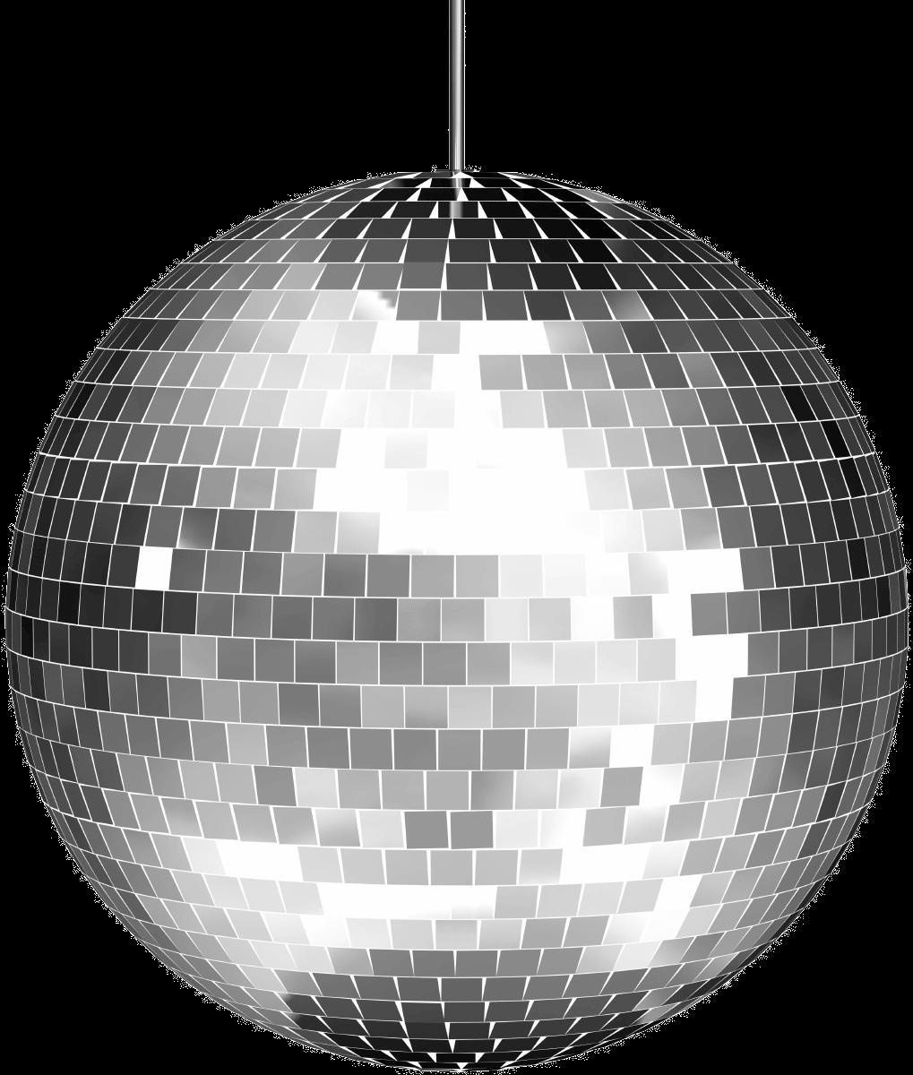 Ball silver metallic ftestickersfreetoedit. Disco clipart disco party