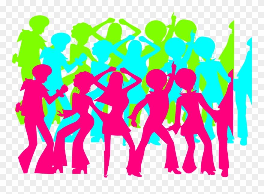 Disco clipart disco party. Dancers people clip art