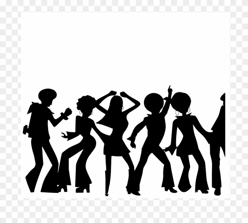 Dancing party people hd. Disco clipart family dance