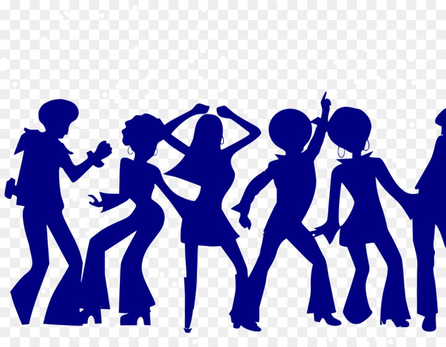 Group of people background. Disco clipart family dance