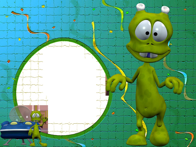 Puzzle clipart green. Disco alien kids transparent