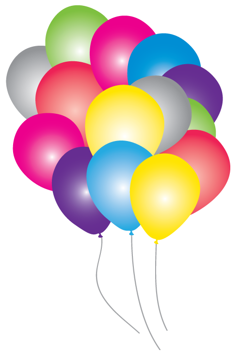 Party balloon pack just. Disco clipart kids disco