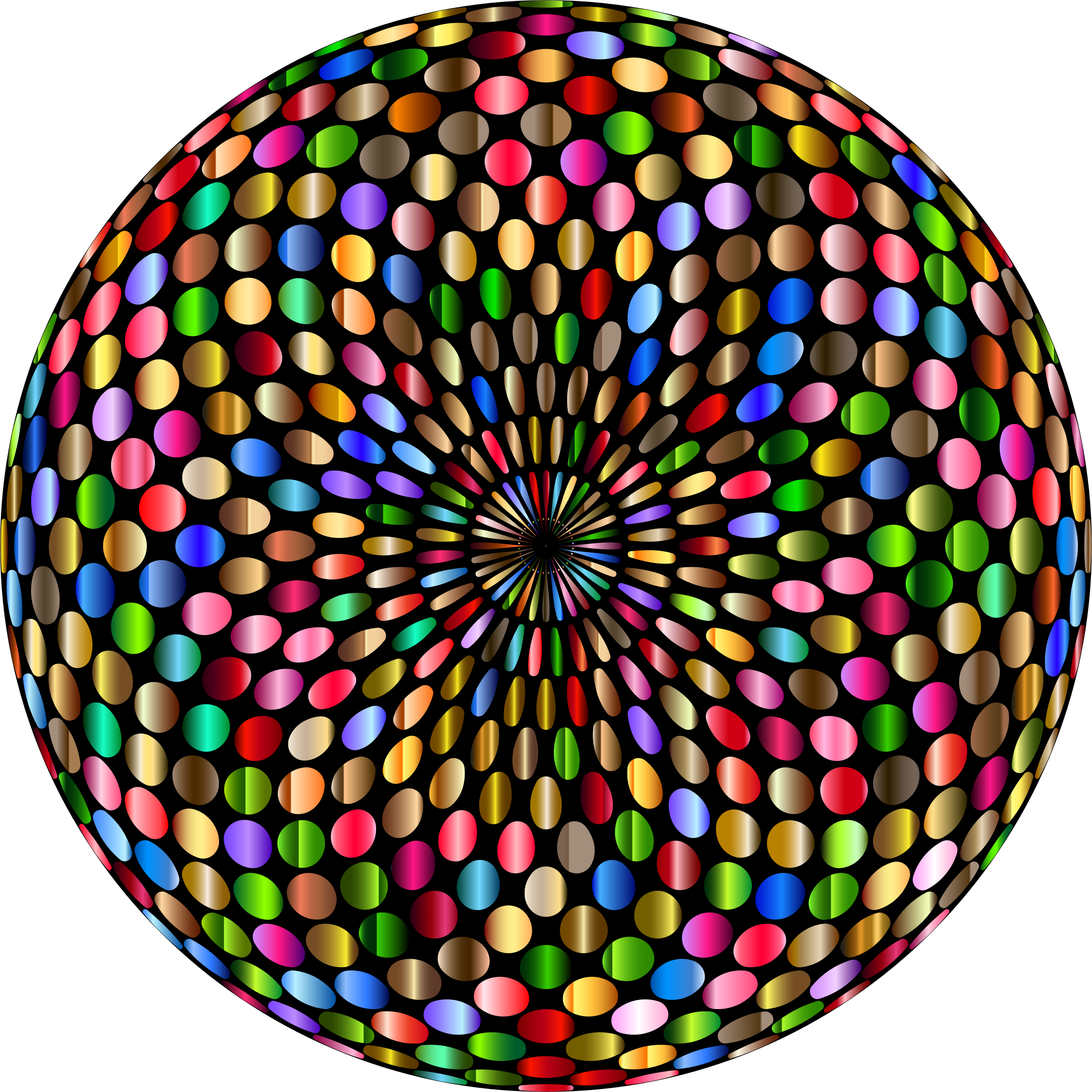 Disco clipart kids disco. Psychedelic chromatic ball big