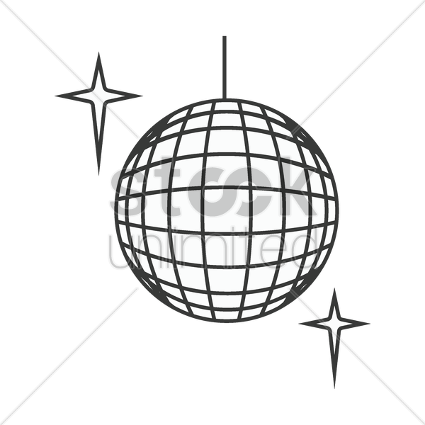 Ball drawing at getdrawings. Disco clipart room