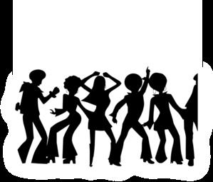 Cliparts silhouette zone . Disco clipart social life