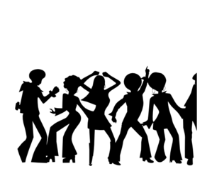 Disco clipart social life. Free cliparts silhouette download