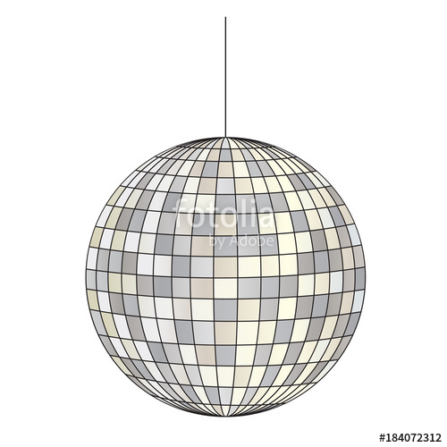 Mirrored ball illustration stock. Disco clipart vector