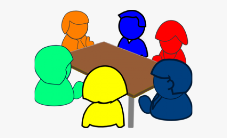 Social small group discussion. Conference clipart village meeting