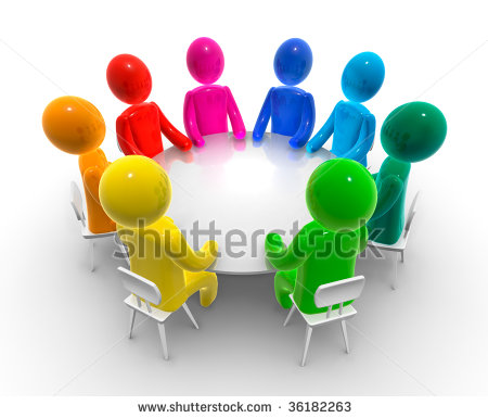 Discussion clipart. Round table