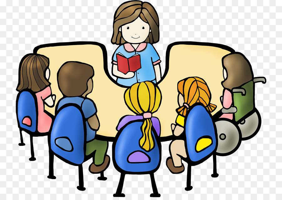 Discussion clipart. Student reading book club