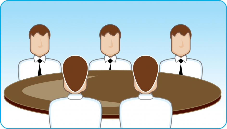 Engaging round table neocreo. Discussion clipart