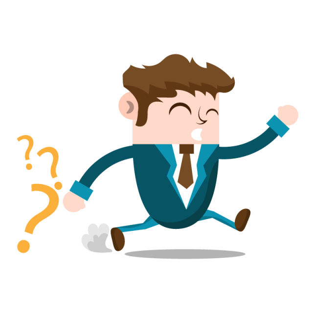 Business man running people. Discussion clipart company person