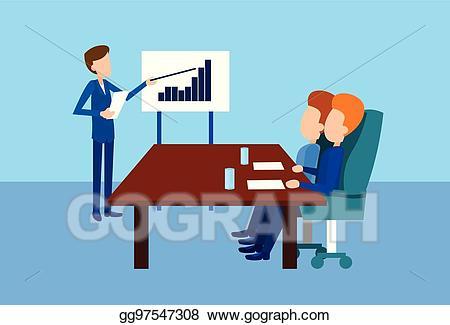 Finance clipart finance meeting. Vector art business people