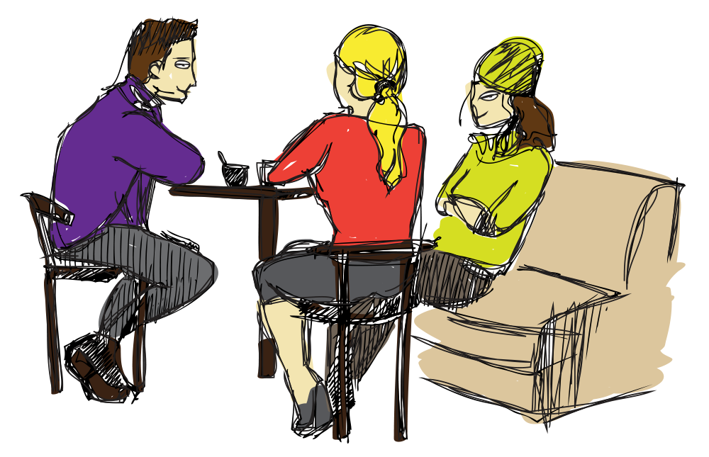 Friends workguru connect with. Discussion clipart family discussion