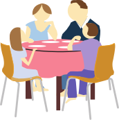 Clip art library . Discussion clipart family discussion