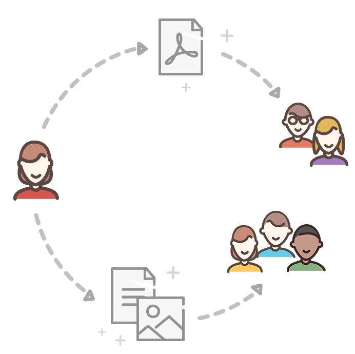 Discussion clipart group communication. Convo team app features