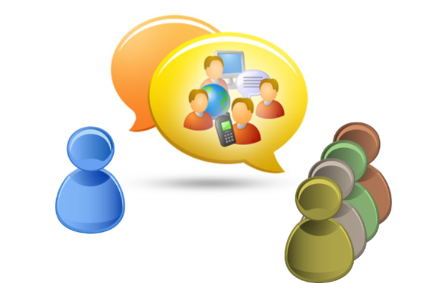 Discussion clipart group communication. Office team collaboration usage