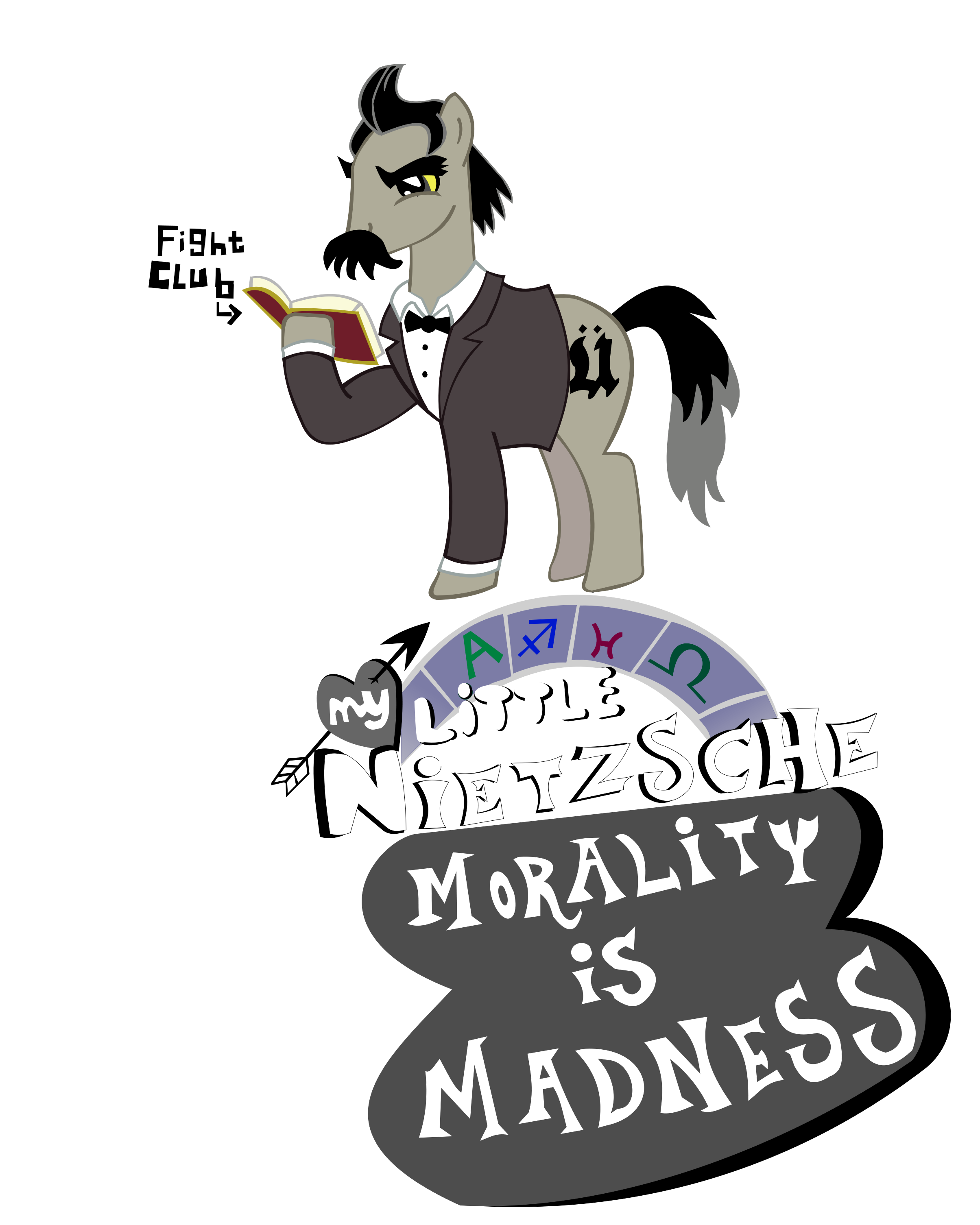Discussion clipart intellect. Pony nietzsche my little