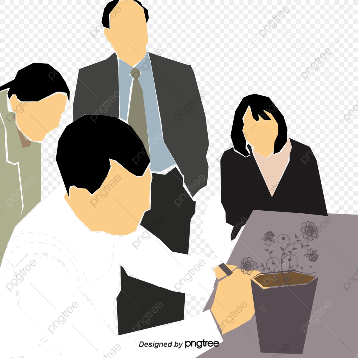 Business personnel team meeting. Discussion clipart office discussion