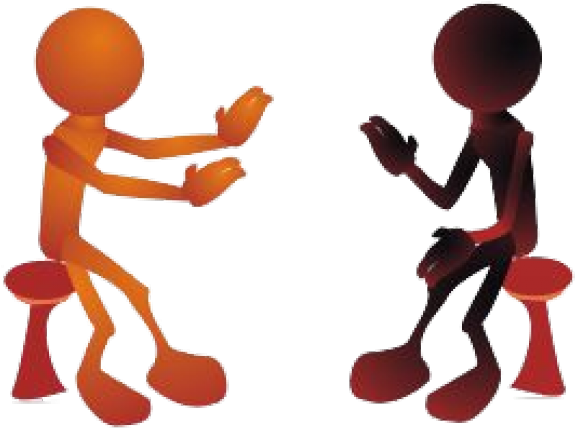 Negotiation cliparts on . Discussion clipart one to one