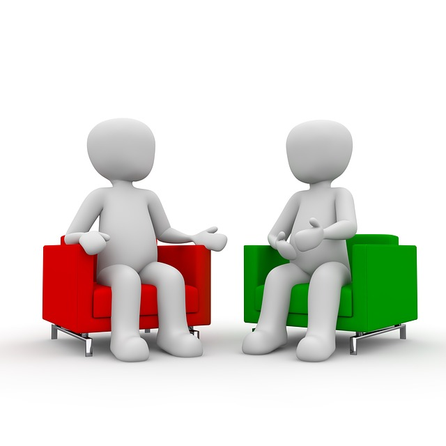 Discussion clipart one to one. Meeting business work career