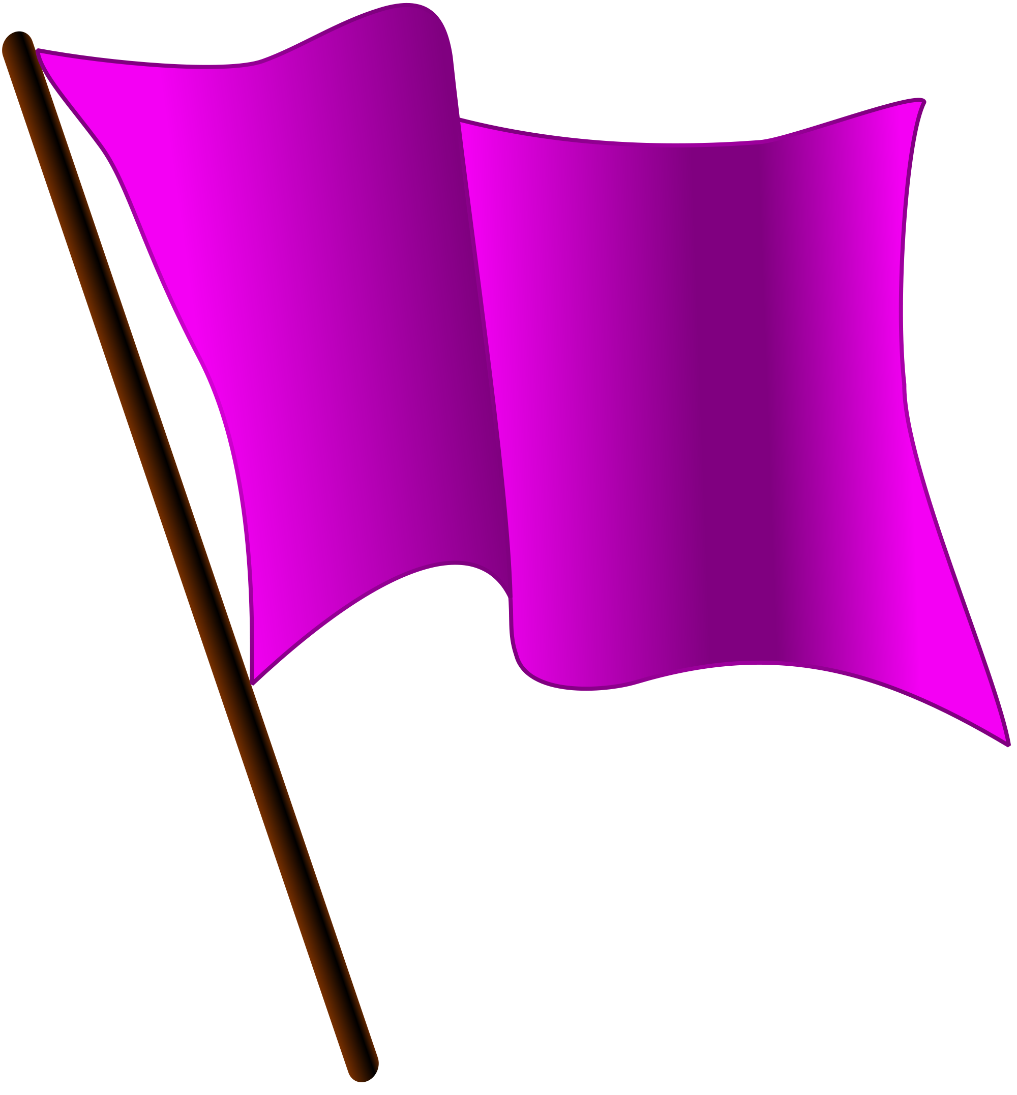 File purple flag waving. Pillow clipart svg
