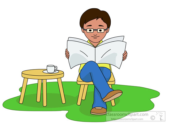 Importance of reading newspapers. Newspaper clipart newspaper reader