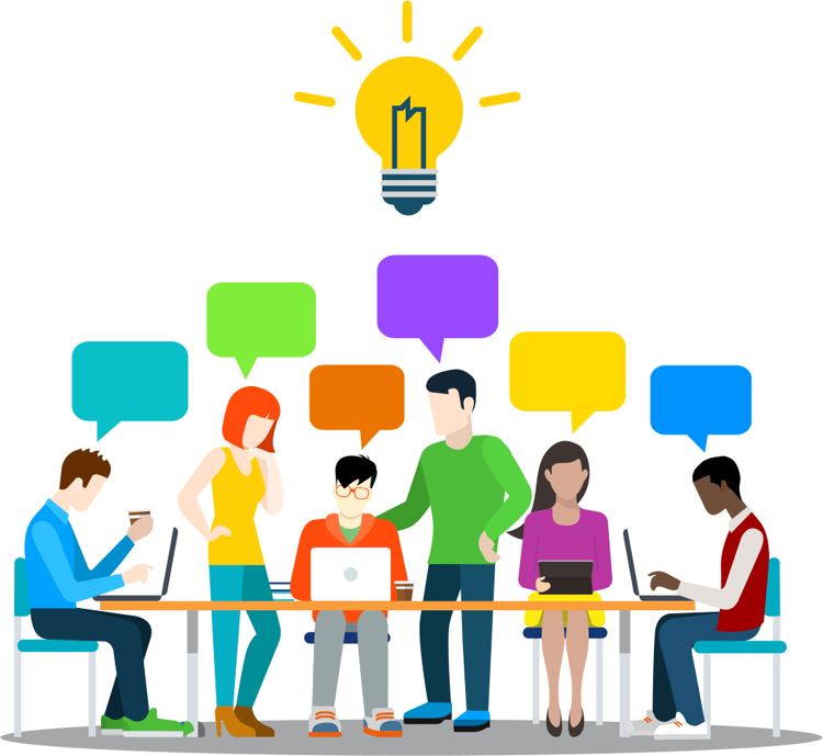 Invitation international student handbook. Discussion clipart research team