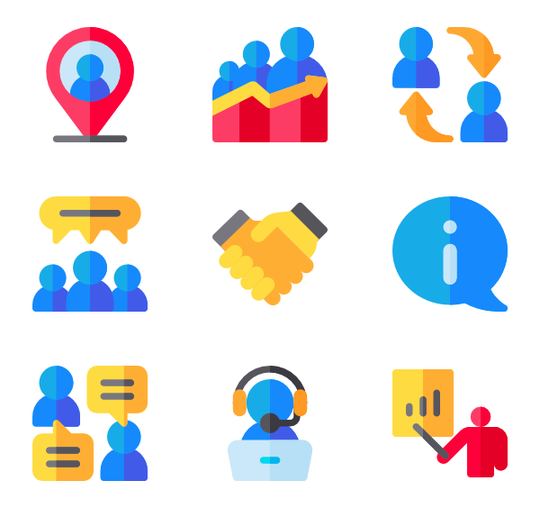 Icons free vector. Discussion clipart result discussion