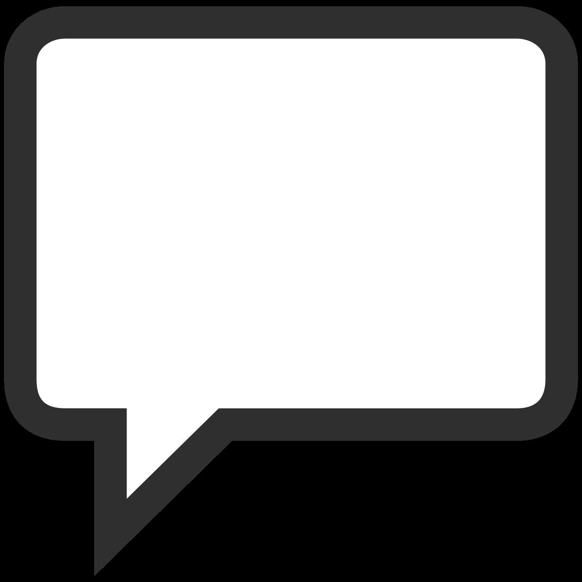 square clipart speech bubble