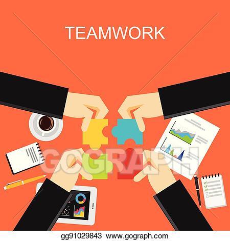 Discussion clipart team development. Eps illustration teamwork concept