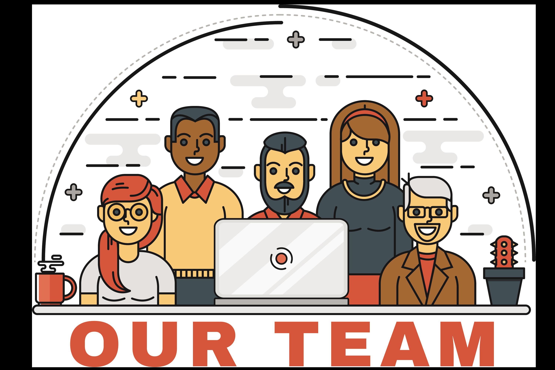 Building a positive environment. Discussion clipart team development