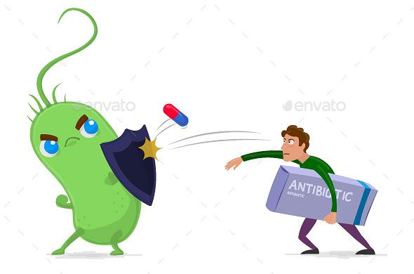 Resistance in antimicrobial . Germ clipart antibiotic resistant bacteria