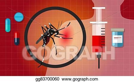 Eps illustration dengue fever. Disease clipart chikungunya