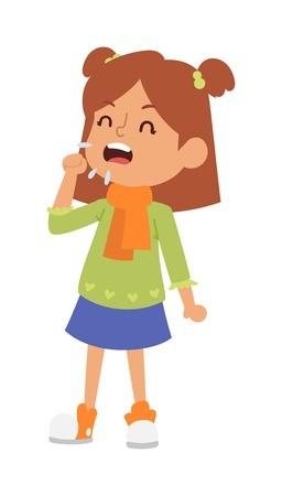 Sick clipart childhood illness. Children sickness disease little
