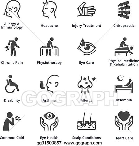 Health clipart condition. Vector art conditions diseases
