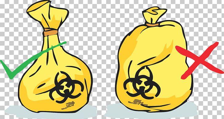 Plastic bag medical waste. Disease clipart hazardous material