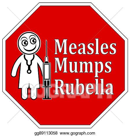 Disease clipart mmr vaccine. Stock illustration measles mumps