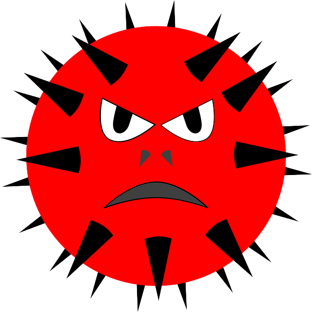 Health by virus hbv. Flu clipart emoticon