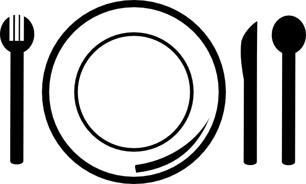Cliparts and cutlery. Dish clipart