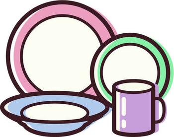 Dishes clipart. Dish clip art panda