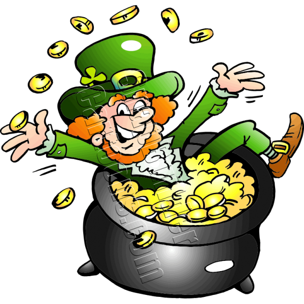Holiday clipart end. Pot leprechaun gold frames