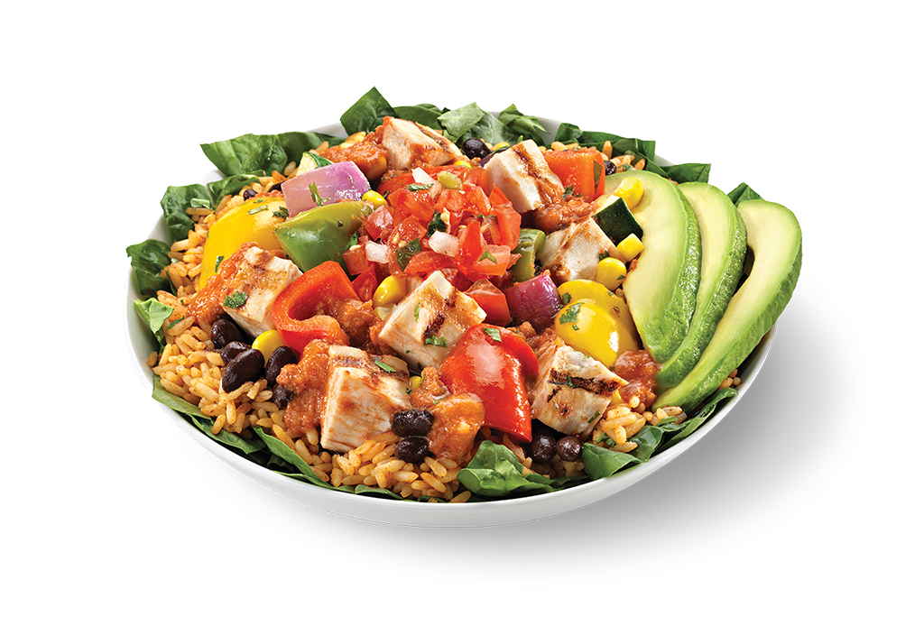 Rice clipart chicken salad. Mexican food menu restaurant
