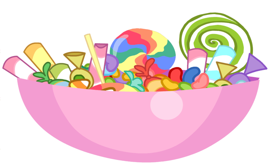 Dish clipart bowl. Candy cliparts zone halloween